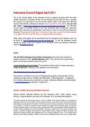 Indonesia Council Digest April 2011 - Asian Studies Association of ...