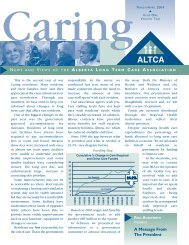 March/April 2004 - Alberta Continuing Care Association