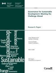 Governance for Sustainable Development - Horizons de politiques