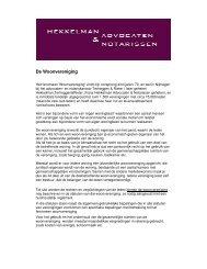 De Woonvereniging - Hekkelman Advocaten & Notarissen