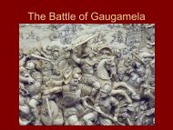 The Battle of Gaugamela