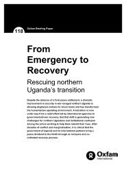 From Emergency to Recovery: Rescuing northern Uganda's transition