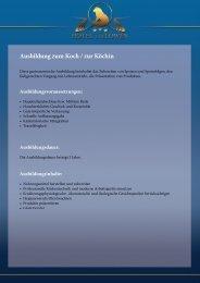 Ausbildung zum Koch / zur Köchin - Hotel Bodensee