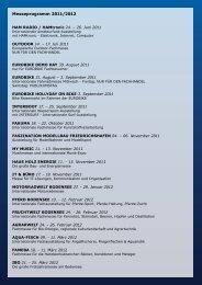 Messeprogramm 2011/2012 - Hotel Bodensee
