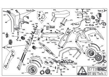 Folding moped Di Blasi mod.R7TB