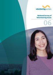 National Survey of Volunteering Issues 2006 - Volunteering Australia