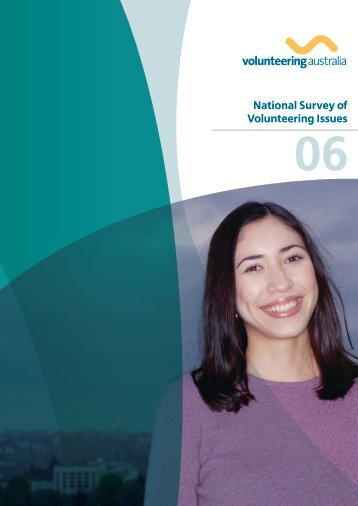 National Survey of Volunteering Issues 2006 - Volunteering Australia