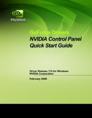 GeForce Drivers NVIDIA Control Panel Quick Start Guide - Nvidia's ...