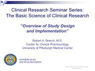 Overview of Study Design and Implementation - Office of Clinical ...