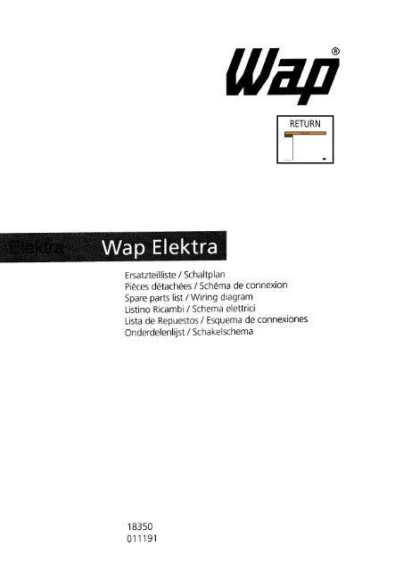 Elektra - Wap Nilfisk Alto Shop