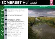 Heritage and Libraries newsletter, August 2012 - Somerset County ...
