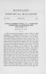MARYLAND HISTORICAL MAGAZINE - Maryland State Archives