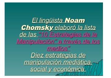 El lingüista Noam Chomsky elaboró la lista de las ... - Wikiblues.net