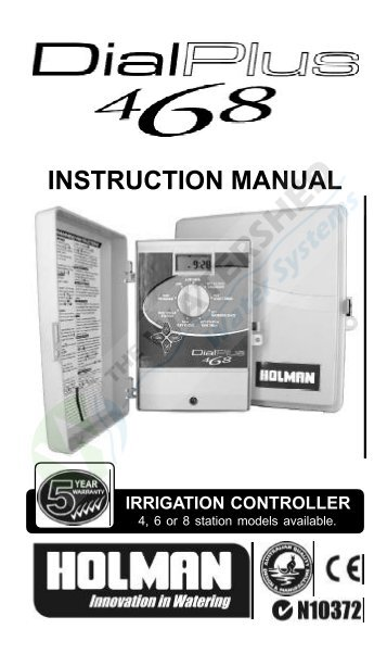 holman dial ezy gardener instruction manual