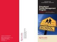 Educational Facility Management Program - Center for Government ...