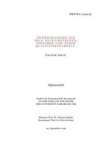 Digital version - Institut für Experimentelle Kernphysik