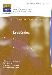 Leucémies et lymphomes (cancers professionnels)
