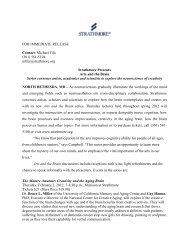 FOR IMMEDIATE RELEASE Contact: Michael Fila (301 ... - Strathmore