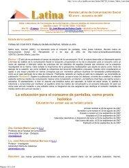 Marta Lazo, Carmen (2007). - Revista Latina de Comunicación Social