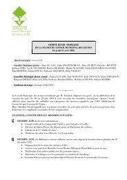 Compte rendu du Conseil Municipal des Jeunes - Cesson-Sévigné