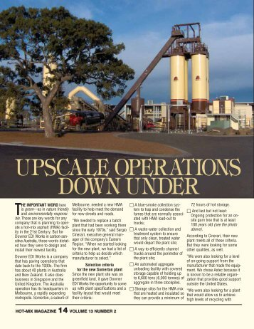 Upscale Operations Down Under - Hot-Mix Magazine