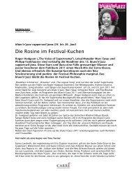 Die Rosine im Festival-Kuchen - Blues 'n' Jazz Festival