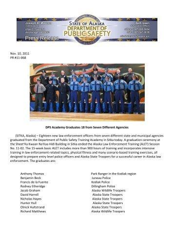 DPS Academy Graduates 18 from Seven Different Agencies - Alaska ...