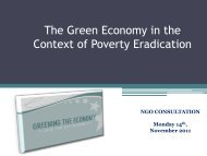 The Green Economy in the Context of Poverty Eradication