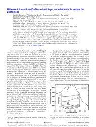 Midwave infrared InAs/GaSb strained layer superlattice hole ...