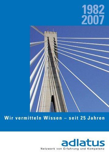 Wir vermitteln Wissen – seit 25 Jahren - adlatus Zentralschweiz/Tessin