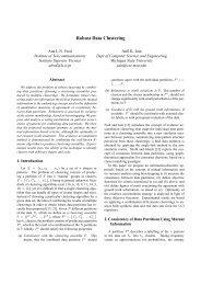 Robust Data Clustering - CiteSeer