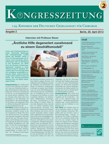 Interview - Dr. R. Kaden Verlag
