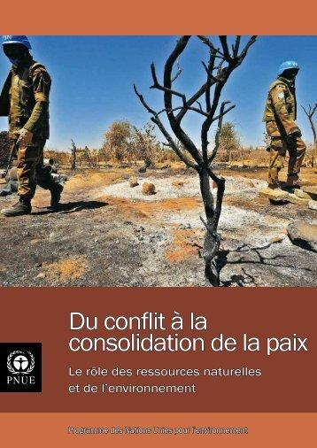 Du conflit à la consolidation de la paix - UNEP