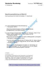 Deutscher Bundestag - Bundesverband der Träger beruflicher Bildung