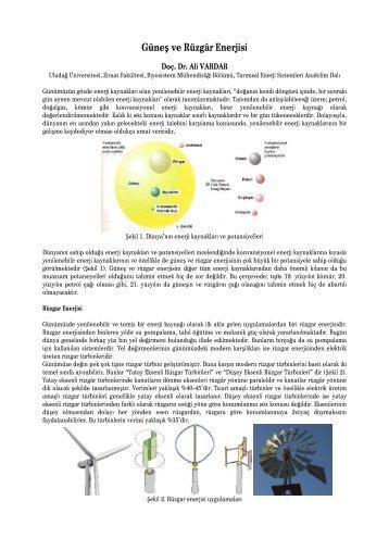 Güneş ve Rüzgar Enerjisi.docx - uludağ üniversitesi ziraat fakültesi