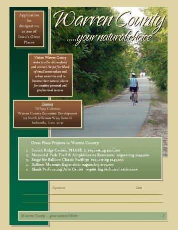 Warren County GP Proposal - Iowa Great Places