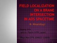 Field localization on a brane intersection in anti-de Sitter ... - KIAS