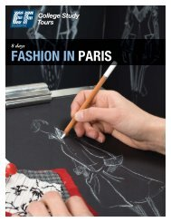 FASHION IN PARIS - EF College Study Tours