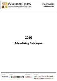 Advertising Catalogue - Dubai Woodshow
