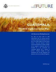 Guatemala FY2010 Implementation Plan - Feed the Future