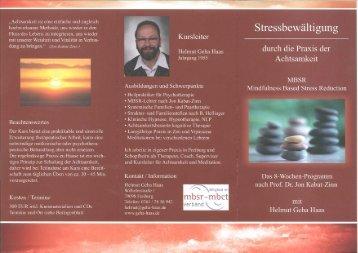Download Flyer - Freiburger Praxis für Psychotherapie, Achtsamkeit ...