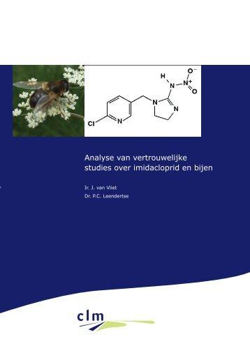 Analyse van vertrouwelijke studies over imidacloprid en bijen - Clm