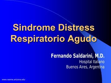 Sindrome distress respiratorio agudo - Reeme.arizona.edu