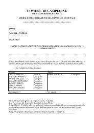 esame ed approvazione linee programmatiche di mandato 2012/2017