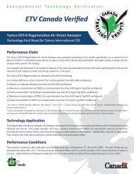 Model DST-6 Performance Claim - TYMCO, Inc.