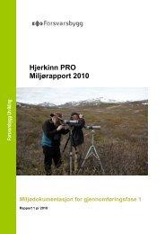 Miljørapport Hjerkinn 2010.pdf - Forsvarsbygg