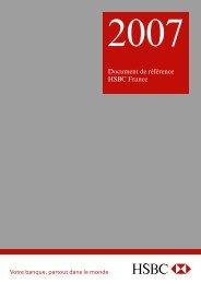 Document de référence à fin 2007 - HSBC