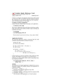 Catalyst Quick Reference Card [.pdf] - Cheat Sheet