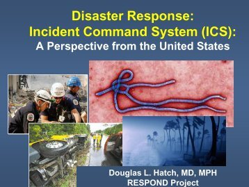 Disaster Response: Incident Command System (ICS): A Perspective ...