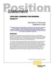 Lifelong Learning for Nursing Faculty, Approved September 19, 2001